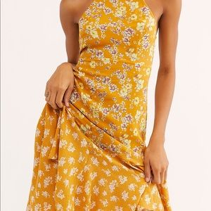 Free People Dresses - Show Stopper Printed Slip Dress